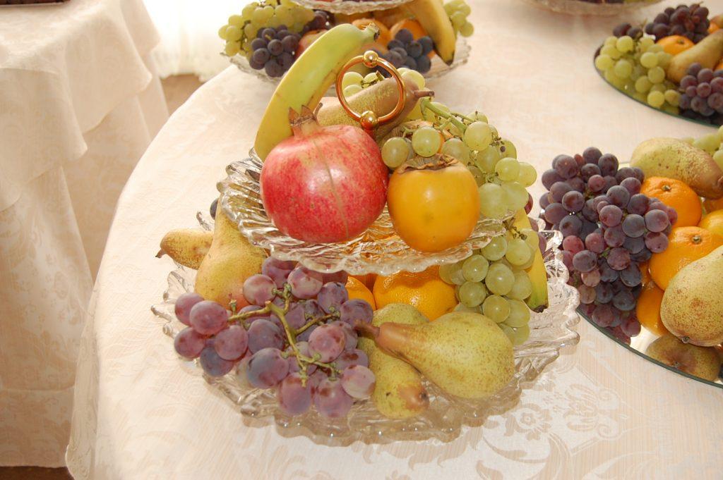 cos fructe pentru nunta